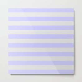 Lavender & Gray Stripes Metal Print