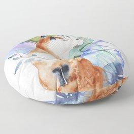 The Fox Minus the Hound Floor Pillow