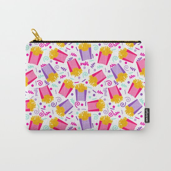 French Fries junk food party time razzle neon bright happy fun kids children pop art pattern foods Carry-All Pouch