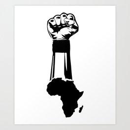 African Map Art Print