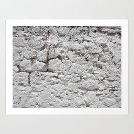 Texture natural stone masonry and paving Art Print