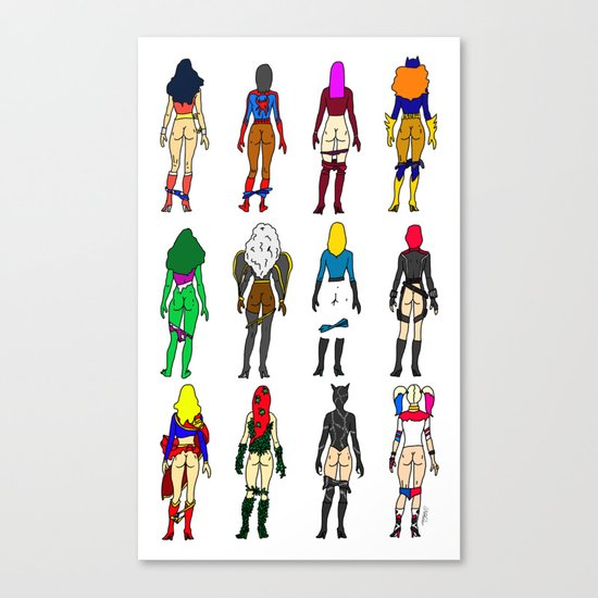Superheroine Butts Canvas Print