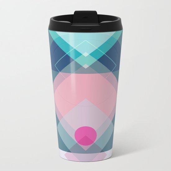 Geometric Play 1 Metal Travel Mug