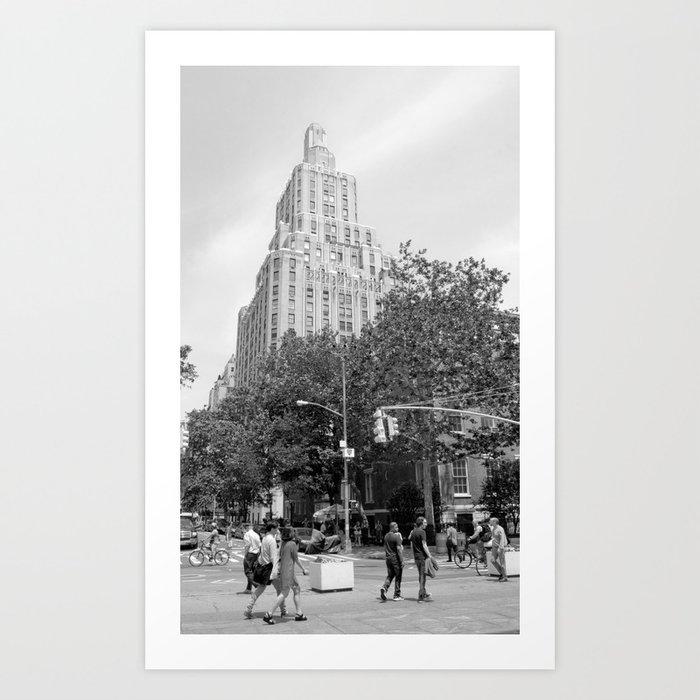 New York City (NYU) Architecture - Black & White Art Print