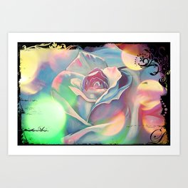 Victoria's Abstract Rose Art Print