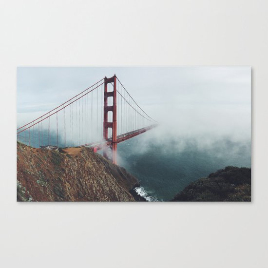 Floating Bridge Canvas Print