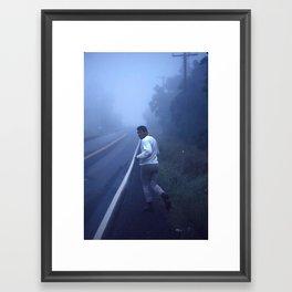 Ali jogging Framed Art Print