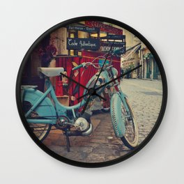 Let's go for a vintage ride in Lyon - Fine Art Travel Photography Wall Clock