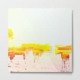 Abstract Landscape, Modern Southwest, Minimal Desert Metal Print