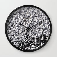 ice Wall Clocks featuring Ice by Stevyn Llewellyn