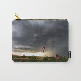 Stay Strong - Flowers Brace for Incoming Storm Carry-All Pouch