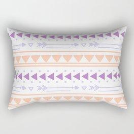 Modern geometric abstract hand painted tribal pattern Rectangular Pillow