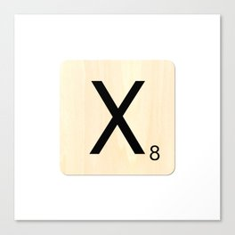 Scrabble X Canvas Print