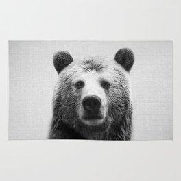 Bear - Black & White Rug