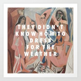 Les Demoiselles du Weekend Art Print