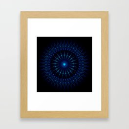 Blue Light Mandala Framed Art Print