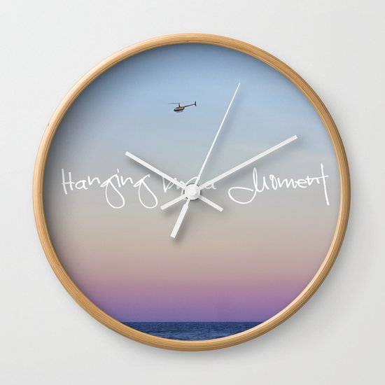 Hanging by a Moment Wall Clock