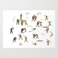 fight Art Prints featuring Fight! by Joe Lillington