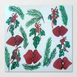 Underneath the Mistletoe Canvas Print
