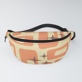Retro Mid Century Modern Abstract Pattern 577 Orange Brown Fanny Pack
