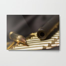 Rifle Barrel and Bullets Metal Print