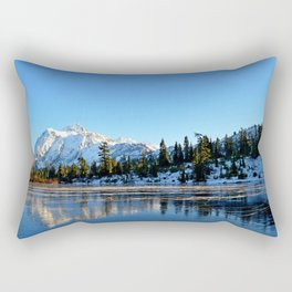 Mount Shuksan from Picture Lake in the Autumn Rectangular Pillow