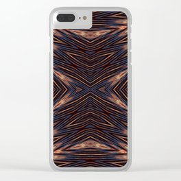 Seamless Kaleidoscope Colorful Pattern XCVII Clear iPhone Case