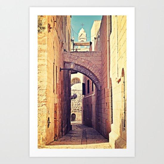 Jerusalem Alley Art Print
