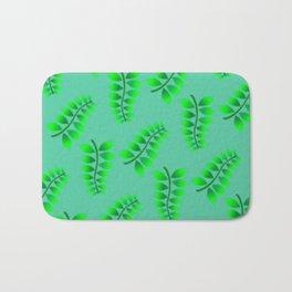 Sponged Foliage Pattern. Bath Mat