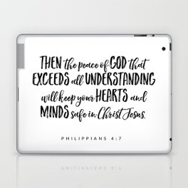 Philippians 4:7 Bible Verse Laptop & iPad Skin