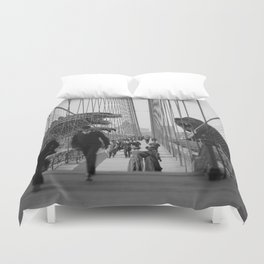 Old Time Godzilla vs. King Kong Duvet Cover