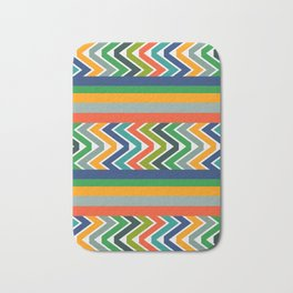 Multicolored stripes and waves Bath Mat