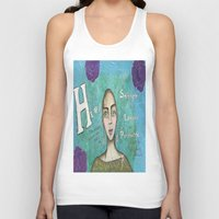 hero Tank Tops featuring Hero by Leanne Schuetz Mixed Media Artist