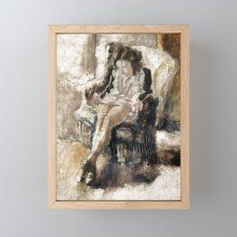 Jules Pascin - Seated Girl Framed Mini Art Print