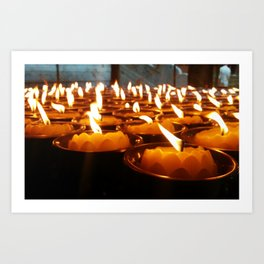 Temple Candles Art Print
