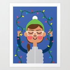 Holiday with Lights Art Print