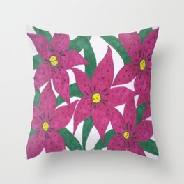 Ultra Violet Lily Bouquet Throw Pillow