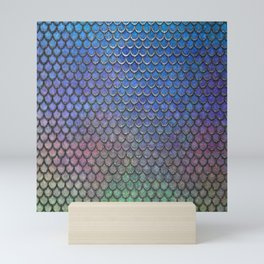 Colorful Silver II Mermaid Scales Mini Art Print