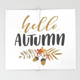 Hello Autumn! Throw Blanket