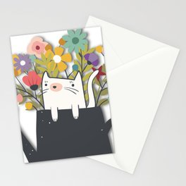 The Cat Is Back Stationery Cards