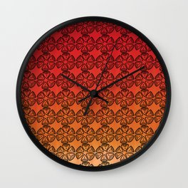 Doodle flowers Wall Clock