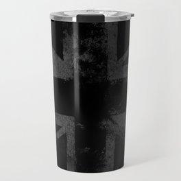 Grey Grunge UK flag Travel Mug
