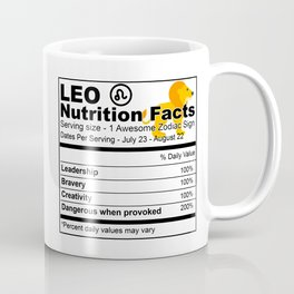 Leo Zodiac Sign Nutrition Coffee Mug
