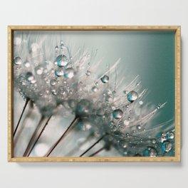 Pretty Dewdrops Serving Tray