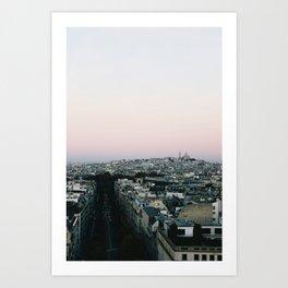 View of Sacré-Cœur from the Arc de Triomphe Art Print