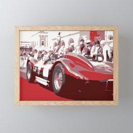 Mille miglia old racing car Framed Mini Art Print