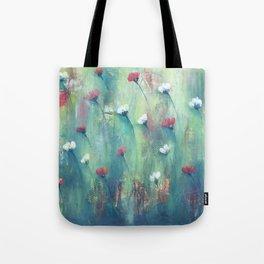 Dancing Field of Flowers Tote Bag
