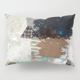 Another Vice Mixed Media Abstract Collage Art Pillow Sham