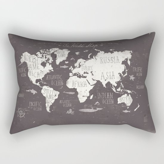 The World Map Rectangular Pillow