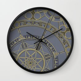 Golden Mandala - Hand Painted Wall Clock